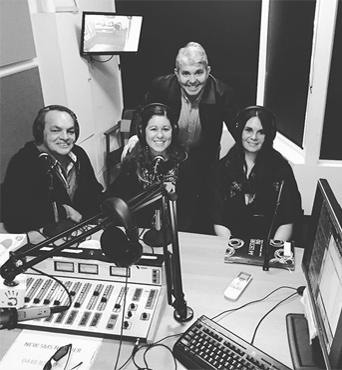 Kara at Broadcasting Studio