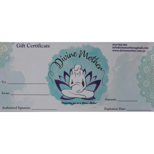 Divine Mother Gift Certificate